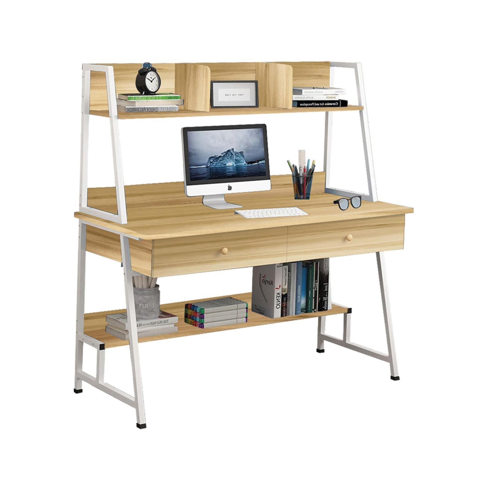 Γραφείο υπολογιστή Υ73/137x120x48εκ. mdf sonoma και μεταλλικό άσπρο σκελετό