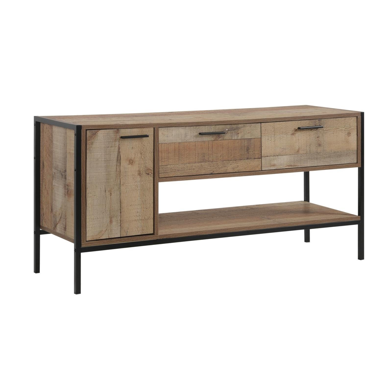 PALLET-W έπιπλο TV με 2συρτάρια, ντουλάπι, ράφι antique oak Y60x124x40εκ.