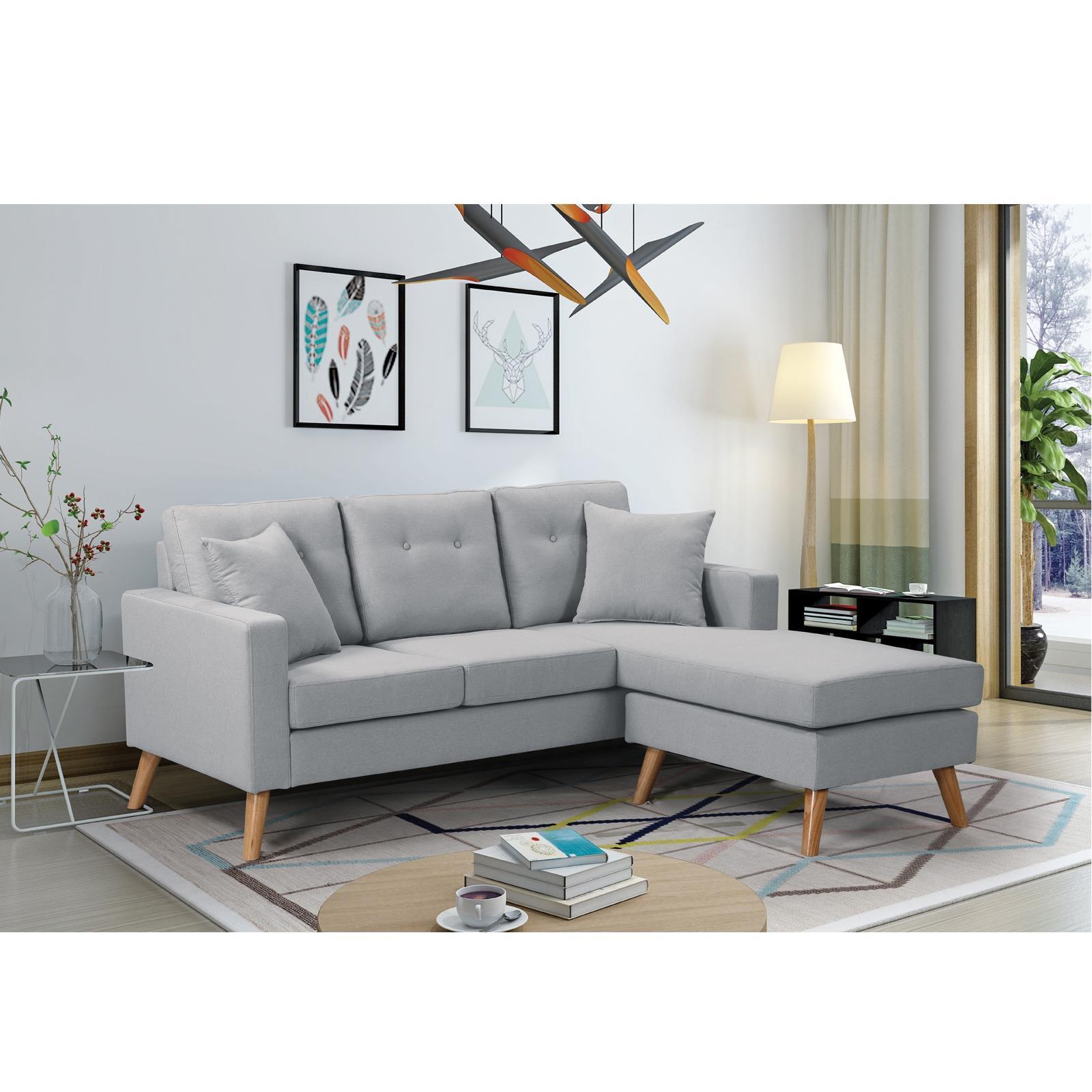 ALAN καναπές σαλονιού αναστρέψιμη γωνία Υ86x182x158x78εκ. ανοιχτό γκρι