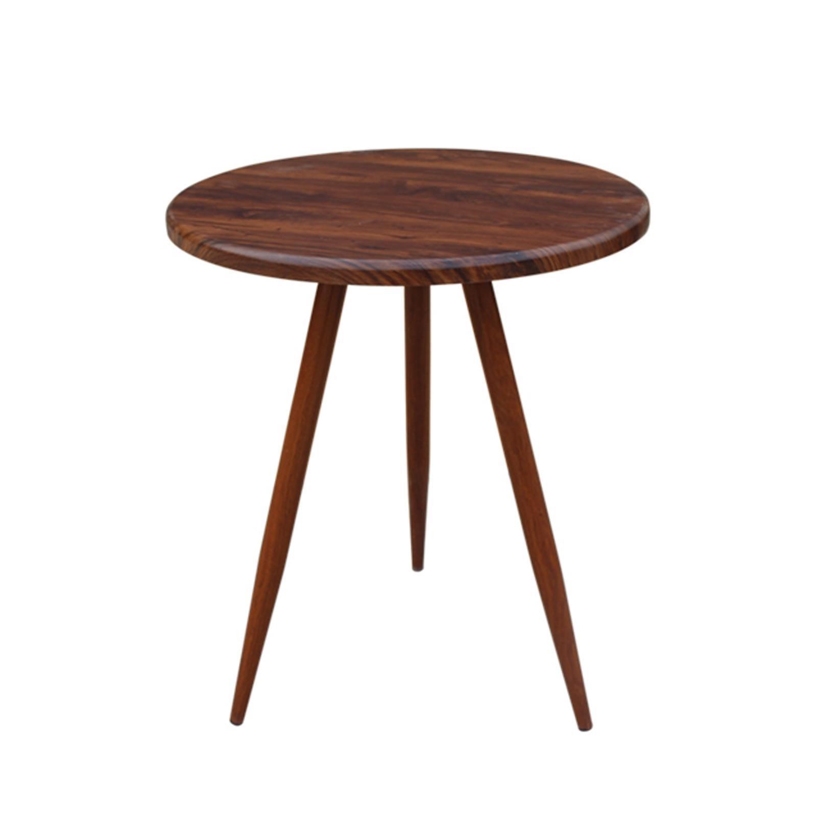 NATURALE τραπέζι καρυδί Υ70xØ60εκ.