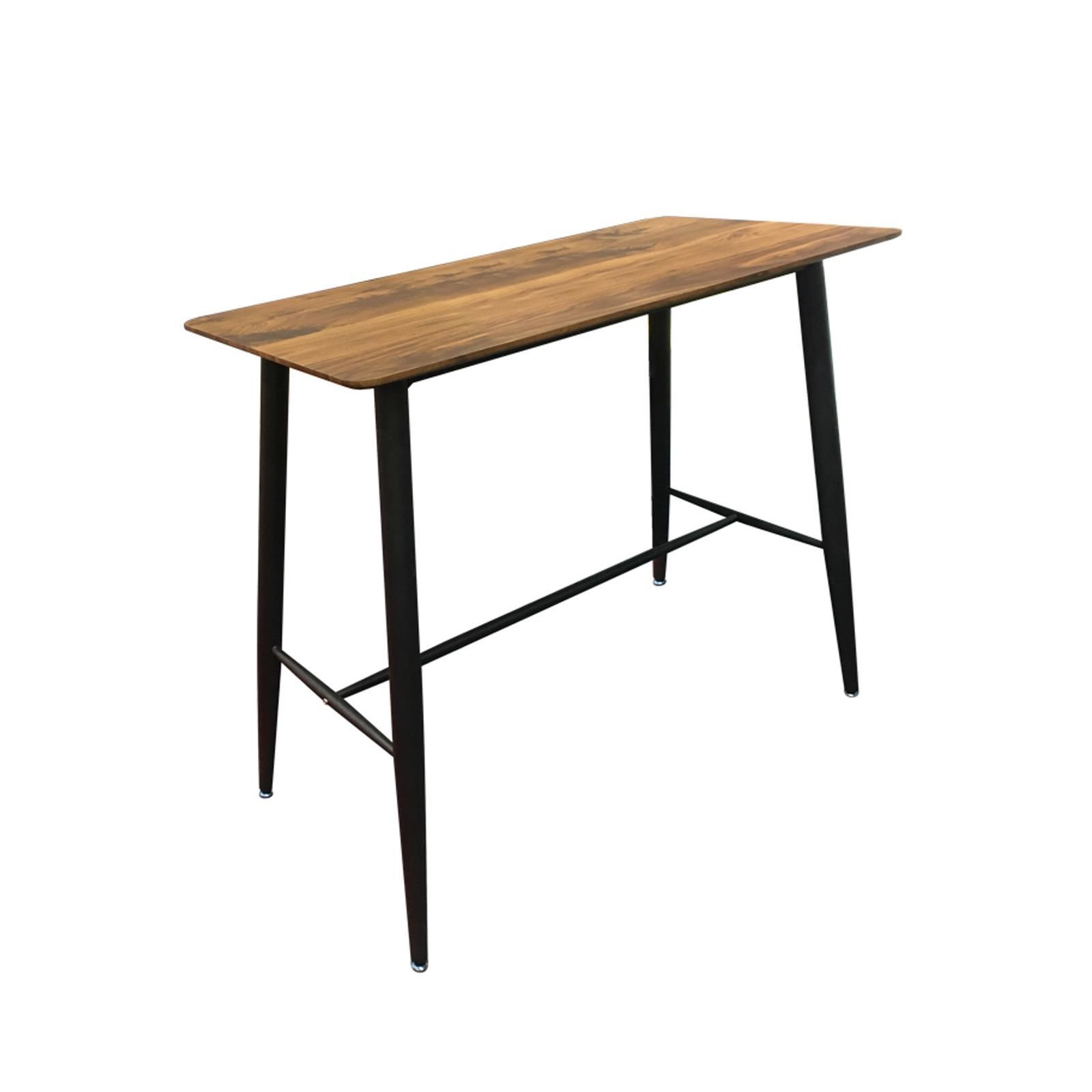 LAVIDA τραπέζι bar antique oak και μεταλλικό σκελετό Υ106x120x60εκ.