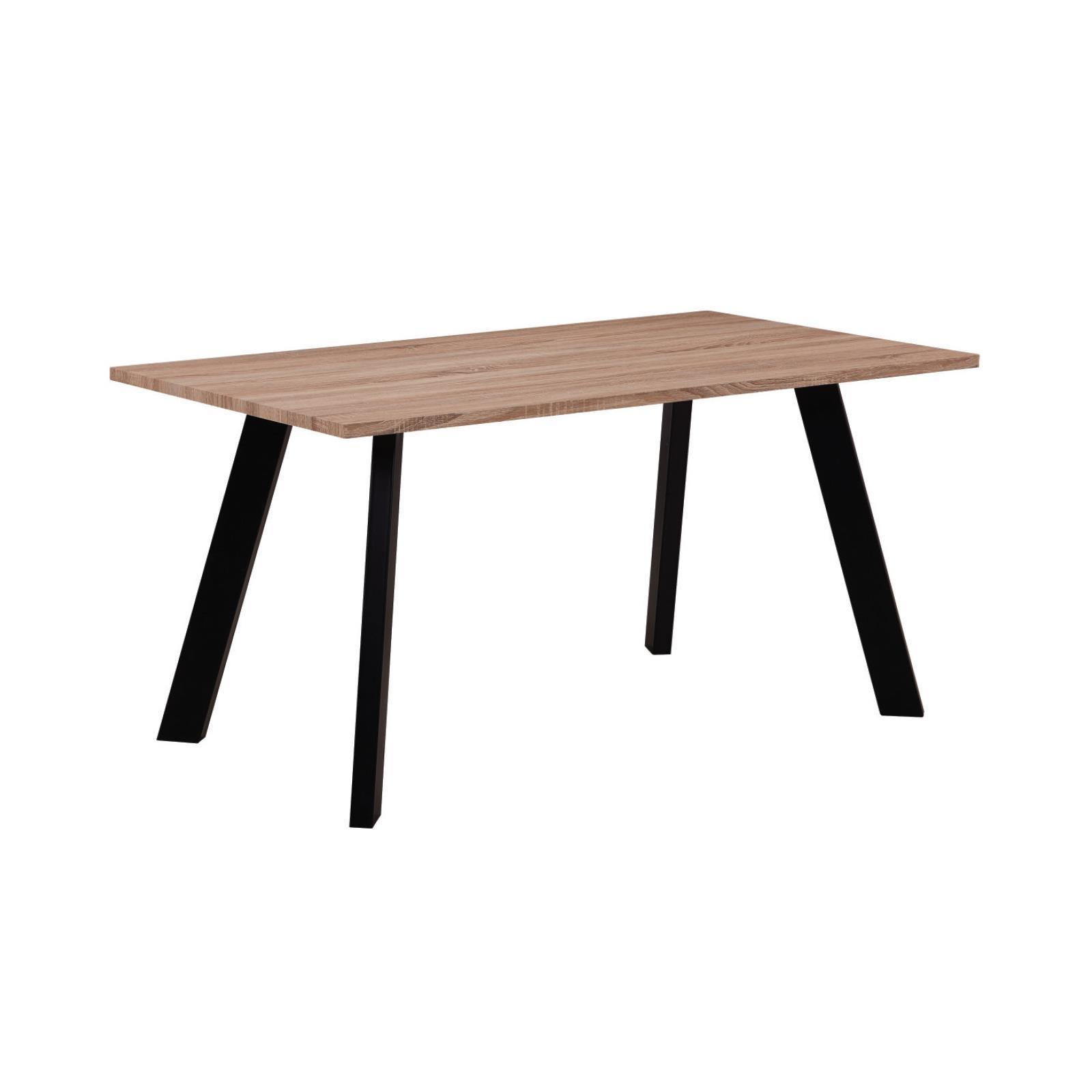BAXTER τραπέζι sonoma με μεταλλικά πόδια μαύρα Υ75x120x70εκ.