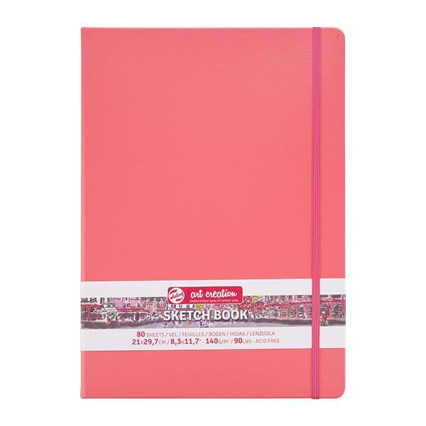 Talens Sketch book κοραλί 80φυλ. 21x30εκ. 140 γρ.