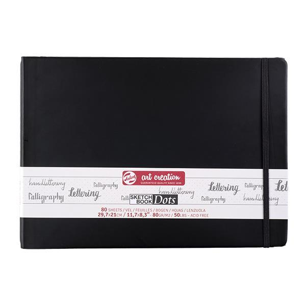 Talens Sketch book Dot μαύρο 80φυλ. 30x21εκ. 80 γρ.