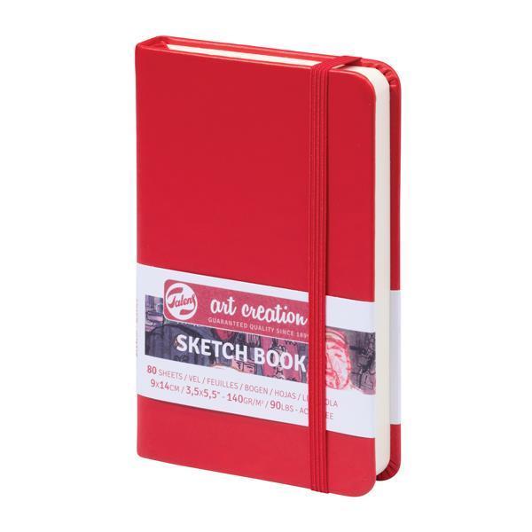 Talens Sketch book κόκκινο 80φυλ. 9x14εκ. 140γρ.