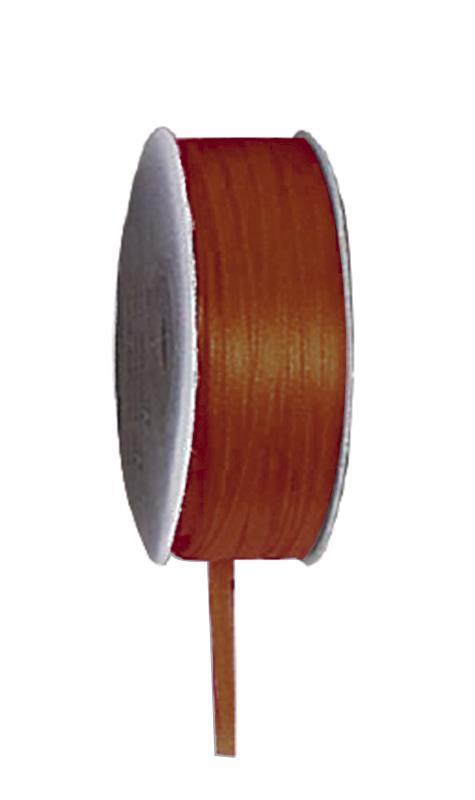 Κορδέλα σατέν διπλής όψης με ούγια καφέ 3mm x100μ.