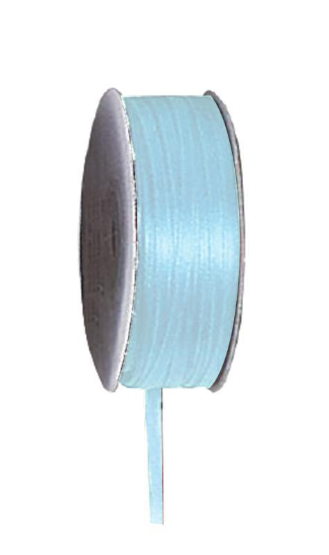 Κορδέλα σατέν διπλής όψης με ούγια αν. μπλε 3mm x100μ.