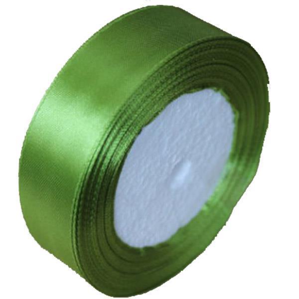 Κορδέλα σατέν με ούγια ανοιχτό πράσινο 2,5εκ. x 22μ.