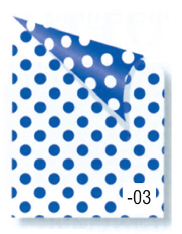 Rainbow χαρτόνι πουά λευκό-μπλε 2 όψεων 50x70εκ.