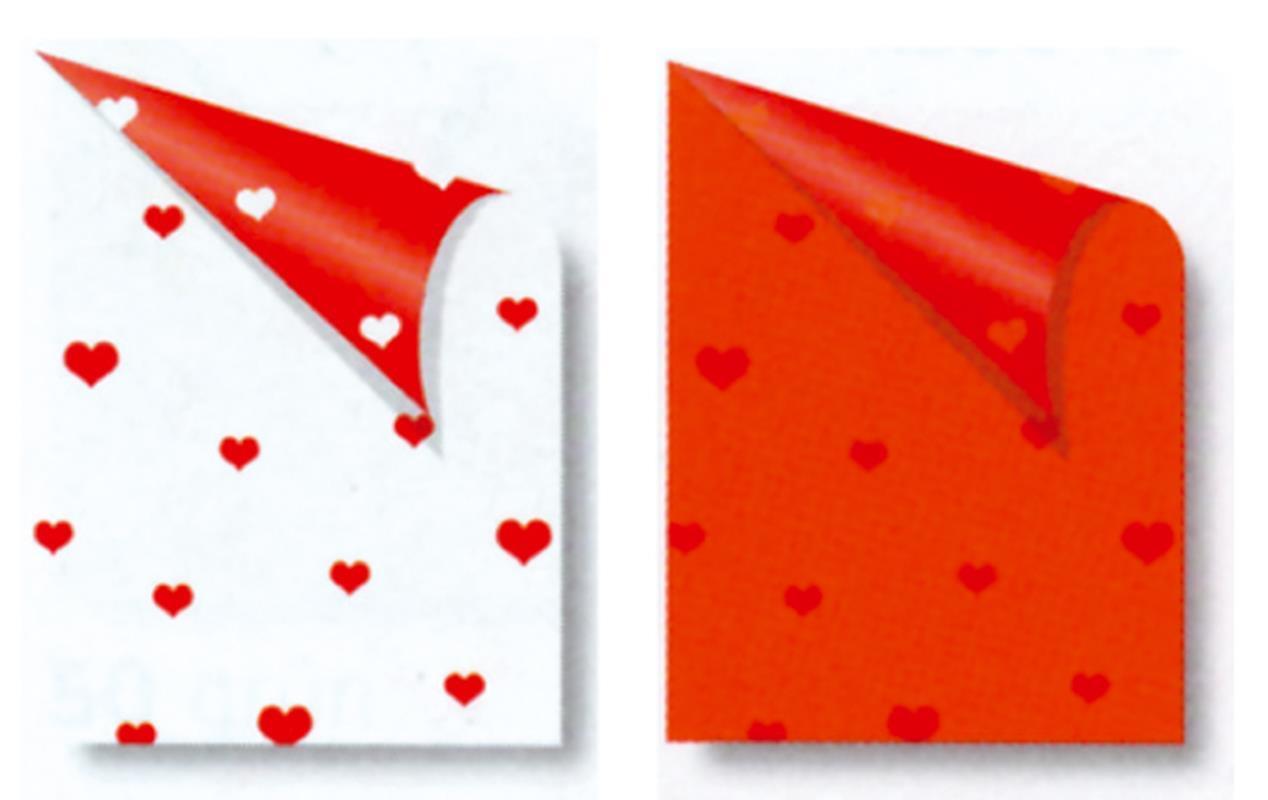 "Rainbow χαρτόνι ""καρδιές"" λευκό-κόκκινο 2 όψεων 50x70εκ."