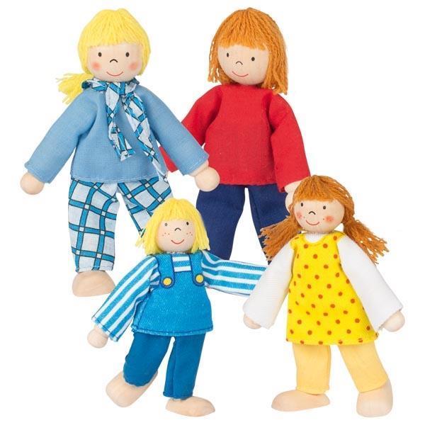 Goki σετ νεαρή οικογένεια με 4 κούκλες.