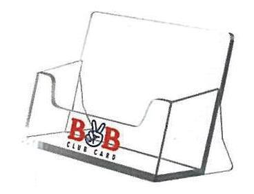 Σταντ ακρυλικό για bussiness cards 5,5x9,5x4εκ.