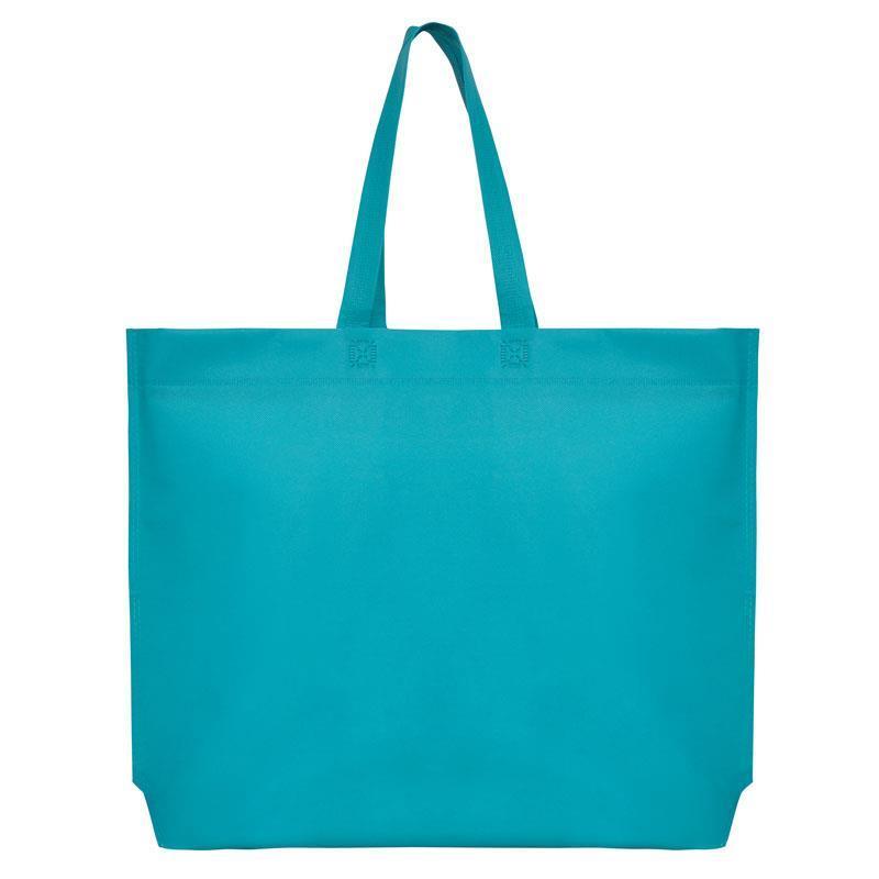 Τσάντα non woven μπλε Υ40x54x10εκ πιέτα
