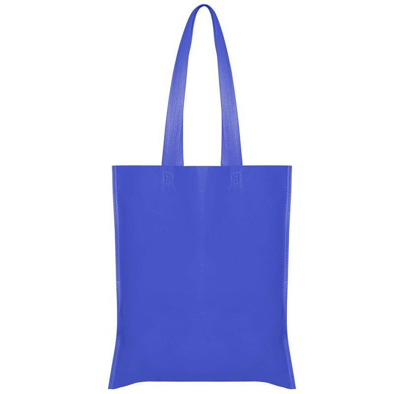 Τσάντα non woven μακρύ χερούλι σκ. μπλε Υ40x36εκ.