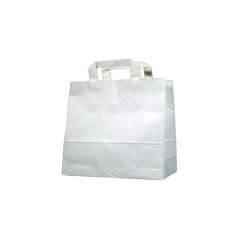 Next χάρτινη τσάντα delivery Υ25x26x17εκ. άσπρη με πλακέ χερούλι
