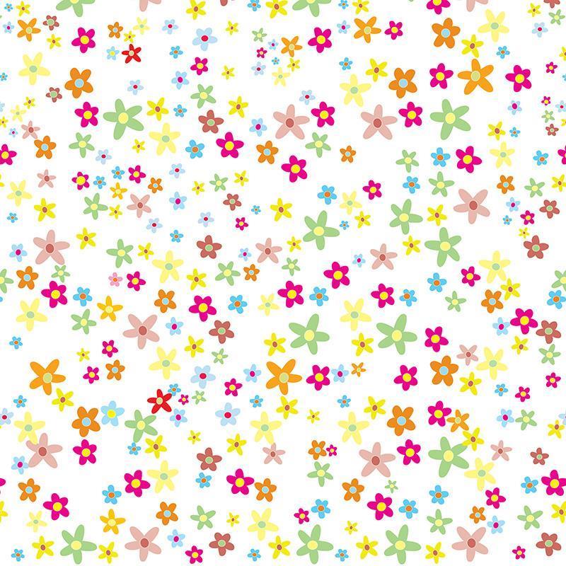 "Next χαρτί περιτυλίγματος 16 φύλλα 70x100εκ. ""λουλούδια"""