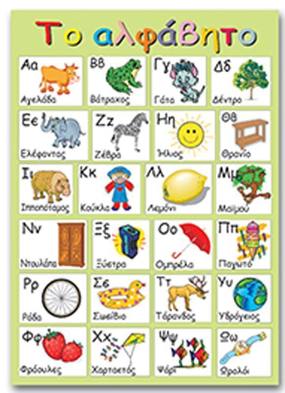 "Next εκπαιδευτική αφίσα ""Ελληνικό αλφάβητο"" 50x70εκ."