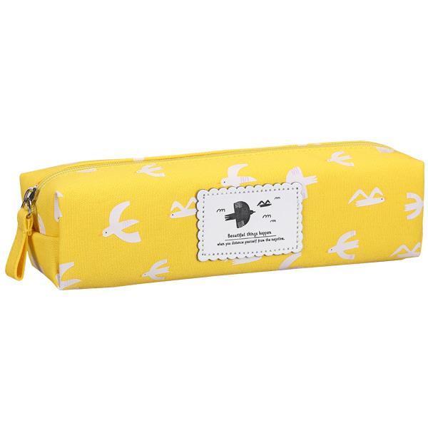 Comix κασετίνα βαρελάκι κίτρινη 19,5x5x5εκ.