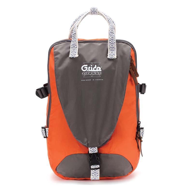 Bagtrotter τσάντα πλάτης πορτοκαλί-γκρι με 1 θήκη 46x30x18εκ.
