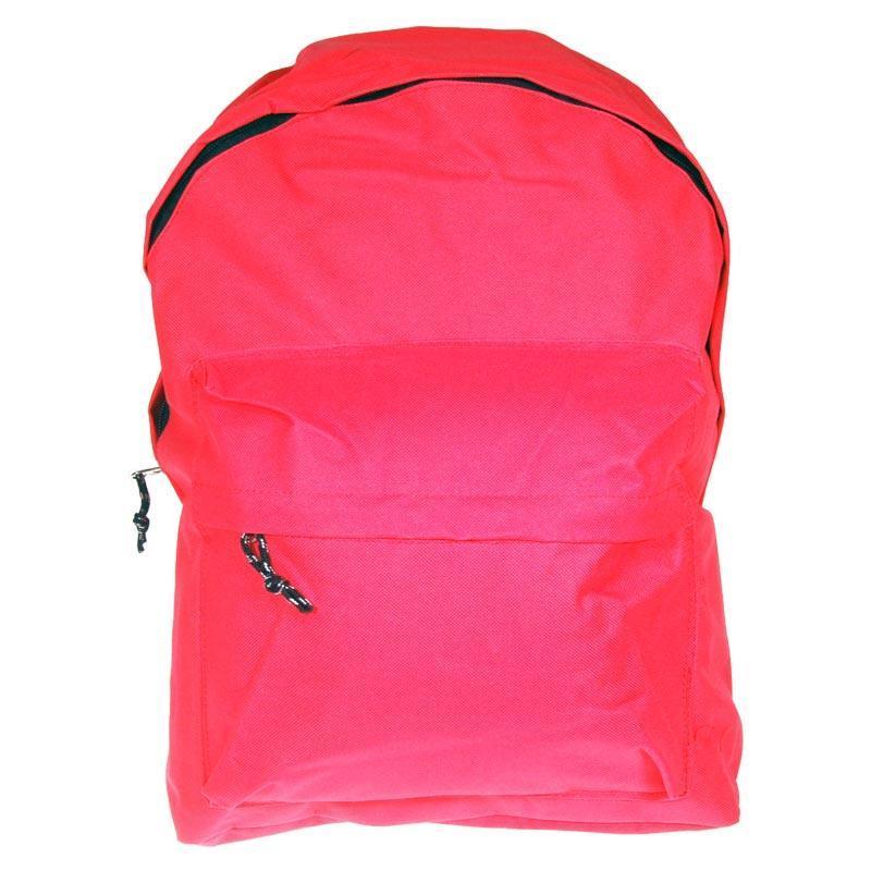 Τσάντα πλάτης κοραλί με 1 θήκη 42x32x16εκ.