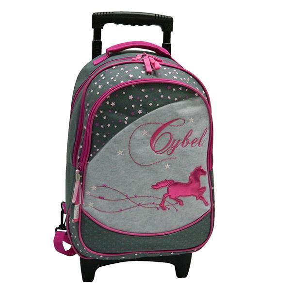 "Bagtrotter τσάντα δημοτικού τρόλευ ""Cyber"" σκ. γκρι 42x30x14εκ."