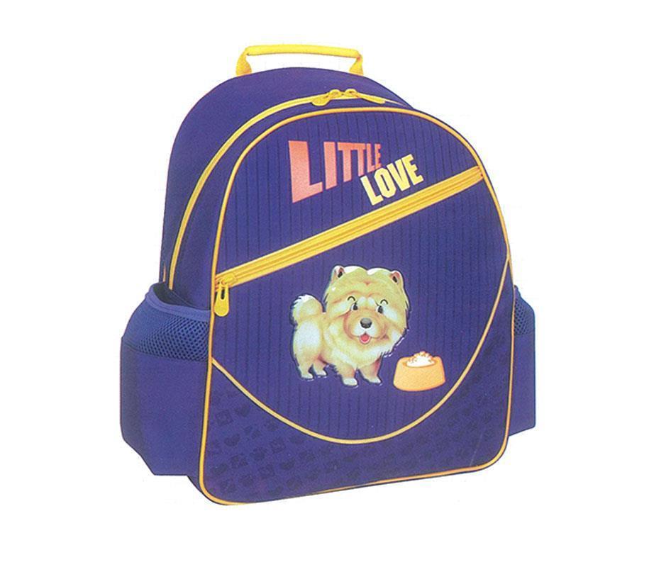 Tiger τσάντα πλάτης δημοτικού Little love μπλε με 1 θήκη 39x38x13εκ.