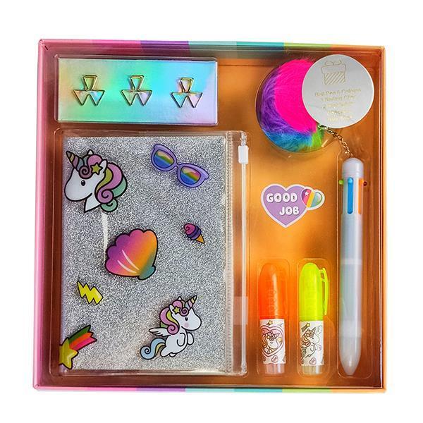 Σετ γραφικής ύλης unicorn 11 τεμ. σε κουτί δώρου Υ3x22×22εκ.