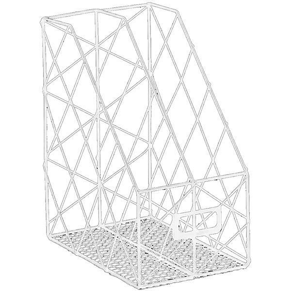 Λοξή γωνία διπλή λευκή μεταλλική Υ30x25x16εκ.