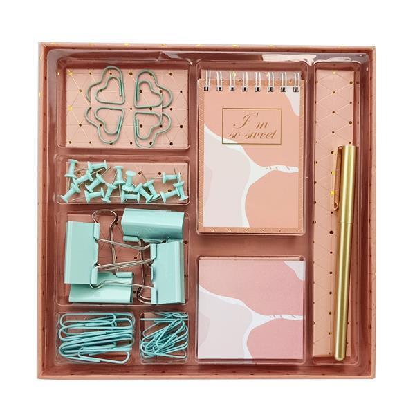 Σετ γραφικής ύλης pink army 40τεμ. σε κουτί δώρου