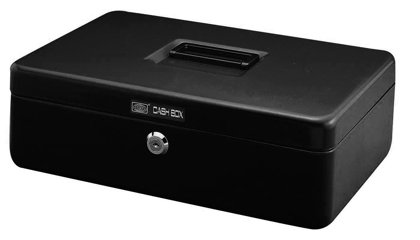Χρηματοκιβώτιο μεταλλικό μαύρο Υ7.5x30,5x23εκ.