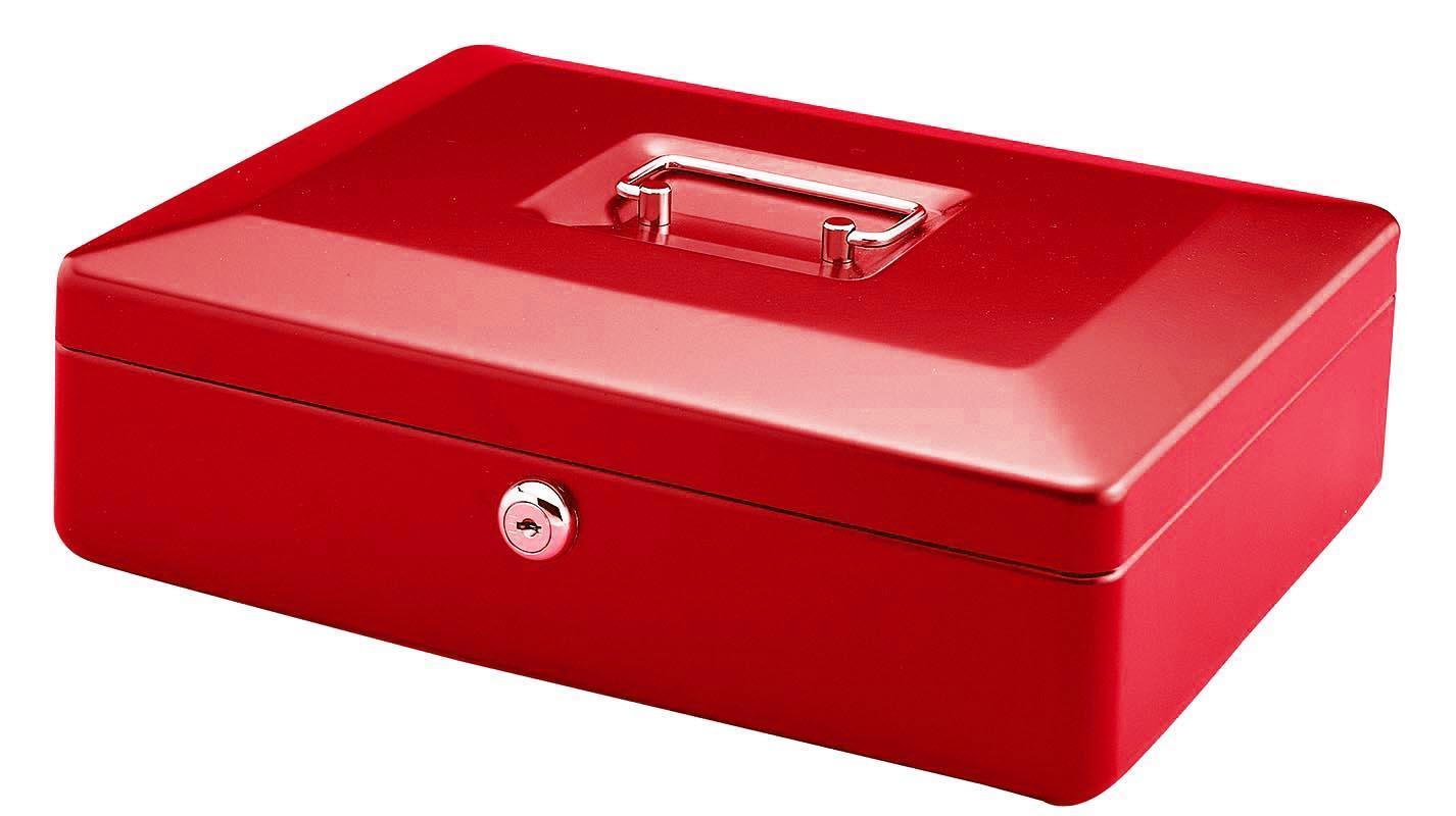 Χρηματοκιβώτιο μεταλλικό κόκκινο Υ11x25x36εκ.