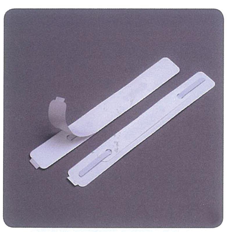 Αυτοκόλλητο έλασμα πλαστικό 150x20χιλ. λευκό (100τεμ)