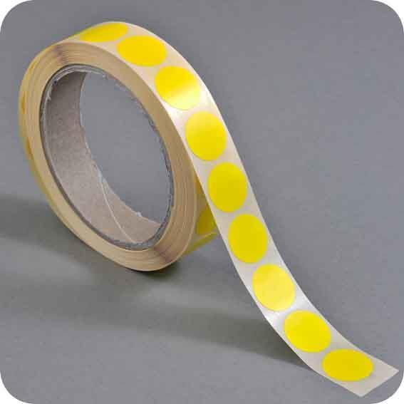Ετικέτες αυτοκ.στρόγγυλες Ø13mm κίτρινες ρολλό 1000τεμ