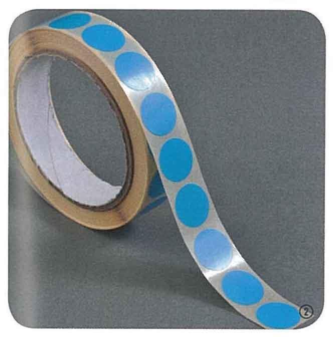 Ετικέτες αυτοκ.στρόγγυλες Ø13mm μπλε ρολλό 1000τεμ