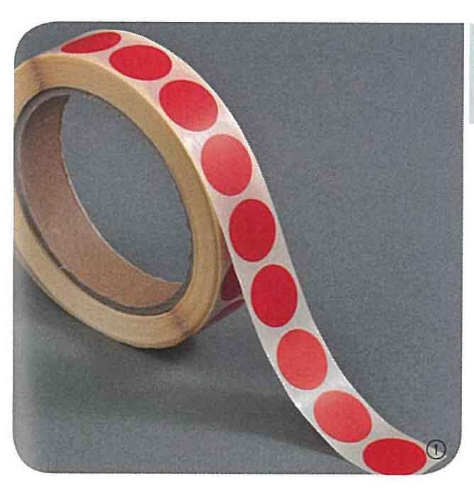 Ετικέτες αυτοκ.στρόγγυλες Ø20mm κόκκινες ρολλό 1000τεμ