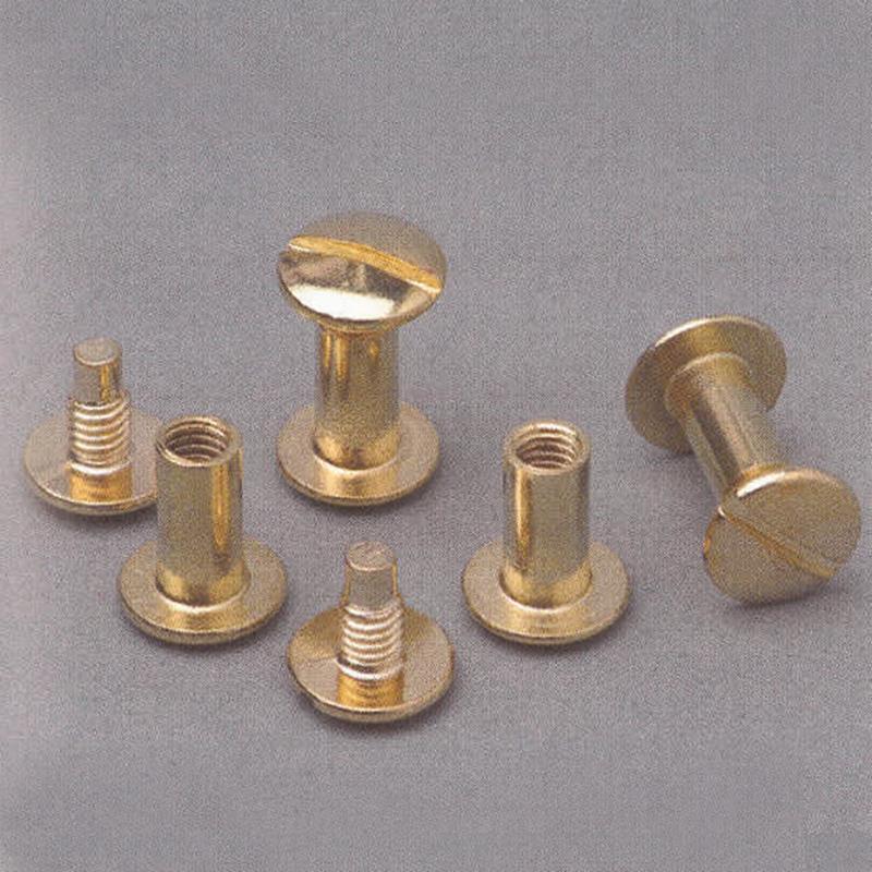Βίδες χρυσές ζεύγος για μενού εστιατορίου 30 mm
