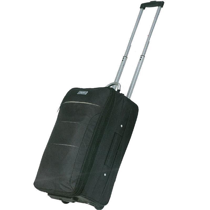 Βαλίτσα τρόλευ μαύρη 52x31x20.5εκ.