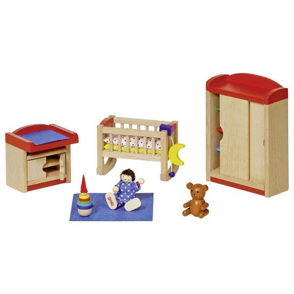 Goki σετ παιδικό υπνοδωμάτιο ξύλινο 12 τεμαχίων για κουκλόσπιτο.
