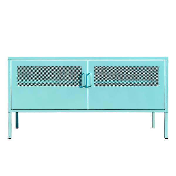 Nextdeco έπιπλο TV-ντουλάπι γαλάζιο μεταλ. με 2 πόρτες Υ60x118x40εκ.