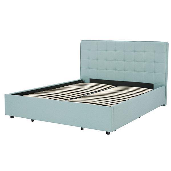 Soho κρεβάτι με αποθηκευτικό χώρο γαλάζιο Υ110x200x160εκ. πλάτος