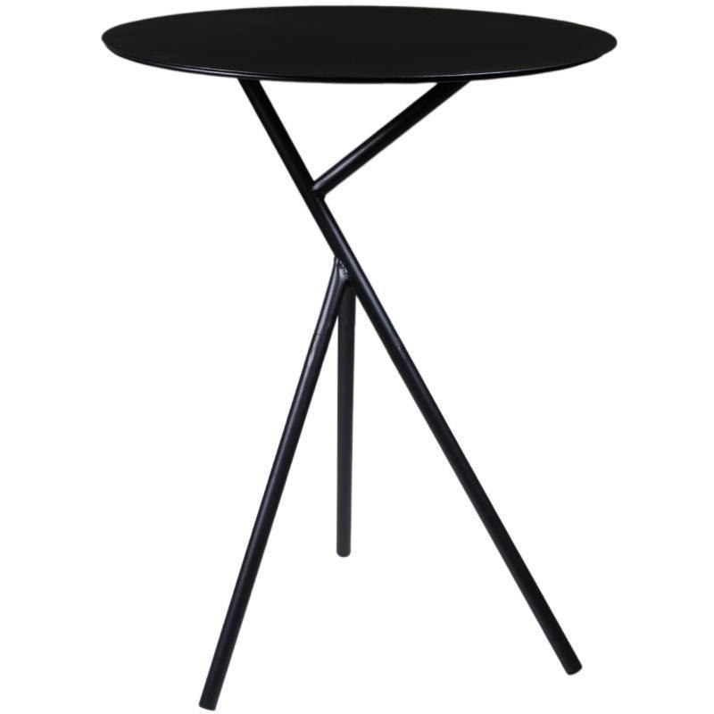 Τραπέζι μεταλλικό μαύρο Υ57εκ. και διάμετρος 45εκ.