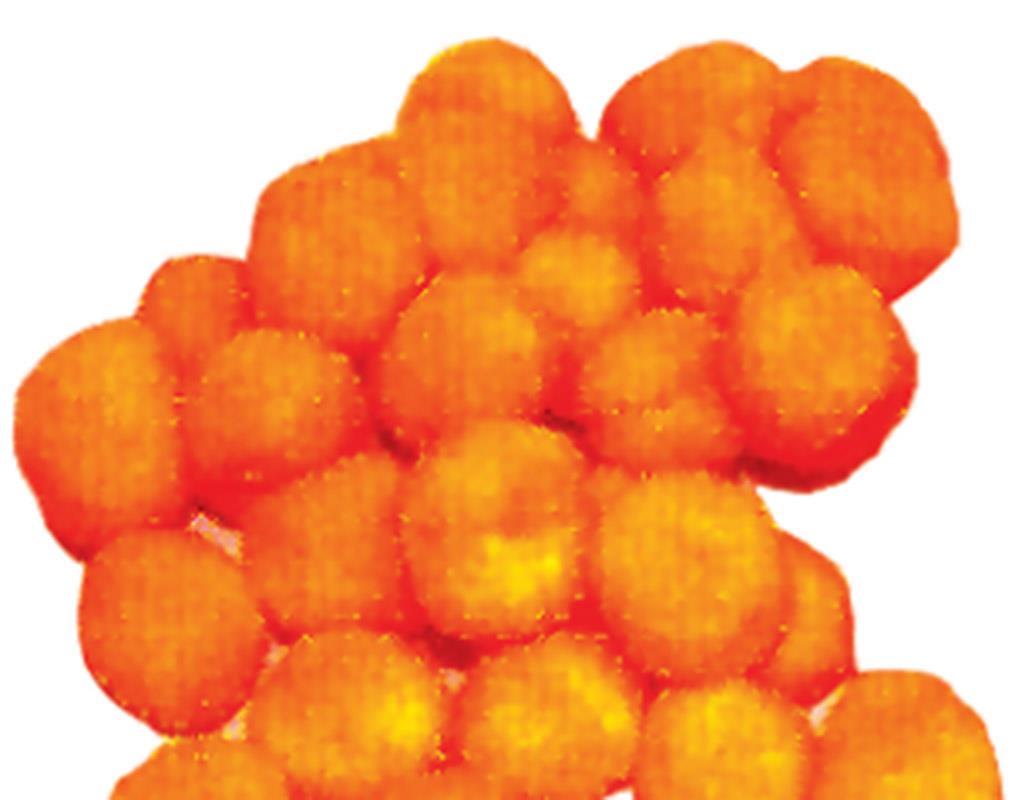 Πομ πομ 1εκ. πορτοκαλί 100 τεμάχια