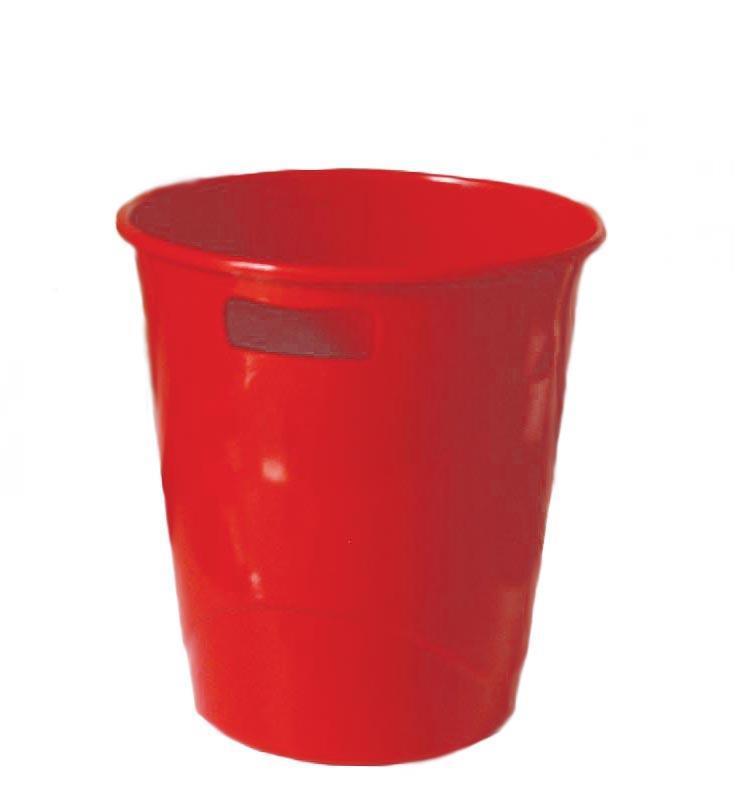 Ark καλάθι πλαστικό 9lt κόκκινο 27x25εκ.