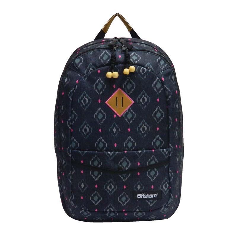 Bagtrotter τσάντα πλάτης μαύρο-φουξ 51x33x20εκ.
