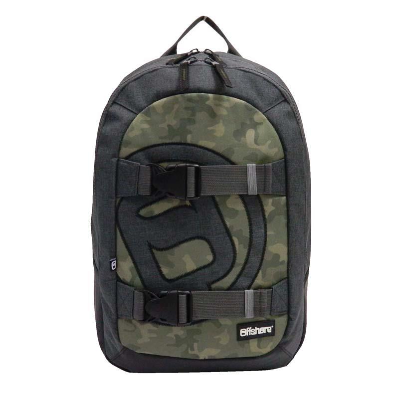 Bagtrotter τσάντα πλάτης γκρι-πράσινο 51x33x20εκ.