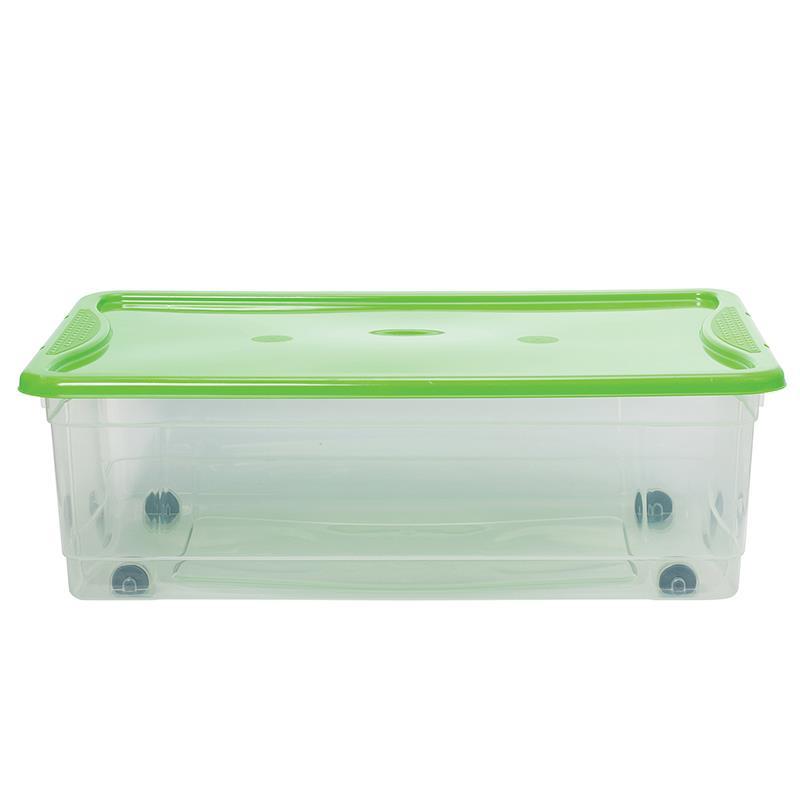 Kουτί αποθήκευσης 32 λίτρο με ρόδες Υ19,5x40x59εκ.