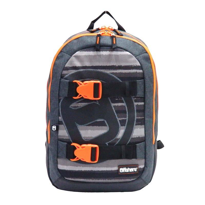Bagtrotter τσάντα πλάτης μαύρο-γκρι 51x33x20εκ.