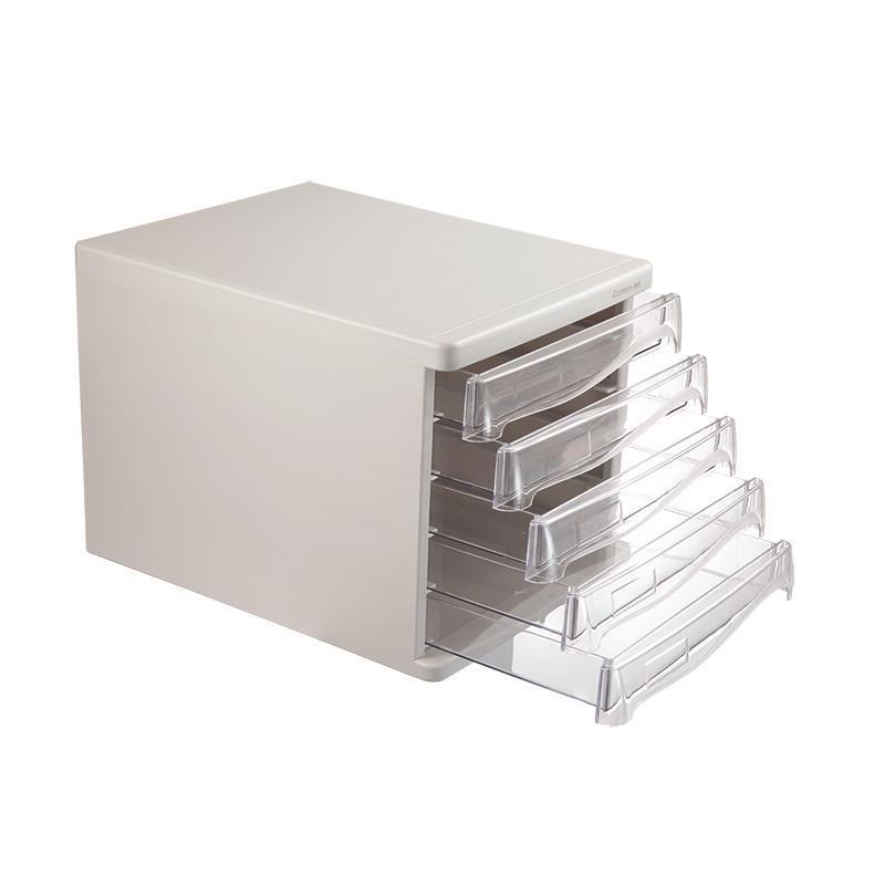 Comix συρταριέρα πλαστική με 5 συρτάρια γκρι Α4 Υ25x33,8x26,5εκ.