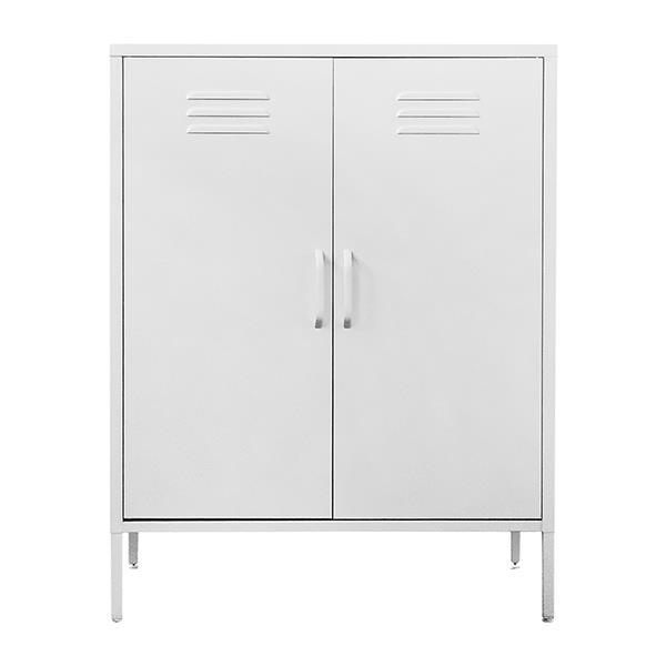 Nextdeco ντουλάπα λευκή μεταλλική δίφυλλη Υ102x80x40εκ.