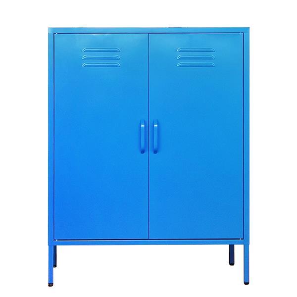 Nextdeco ντουλάπα μπλε μεταλλική δίφυλλη Υ102x80x40εκ.